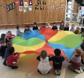 Apprendre à vivre ensemble avec le parachute !