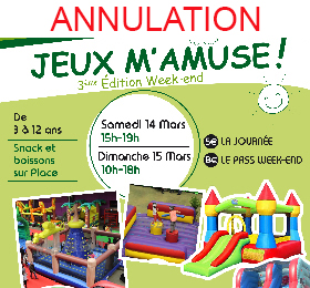 Weekend Jeux m'amuse 14 & 15 mars