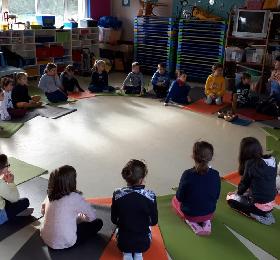 Yoga depuis mars pour les élèves de CE et CM