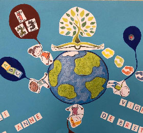 Réflexion des élèves sur le futur logo de l'école